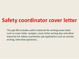 Occupational Health And Safety Coordinator Cover Letter Cover Letter