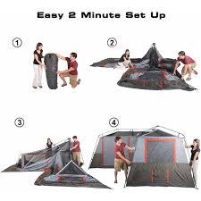 Multiple Room Tents Ozark Trail 16x16 Instant Cabin Tent Sleeps 12 Walmartcom