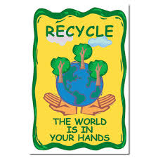 rp154 - Recycling Poster, Recycling placard, recycling sign, recycling  memo, recycling post