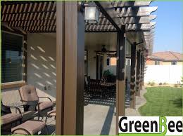 alumawood lattice and solid patio cover bined with electrical