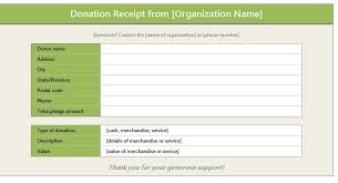 Donation Receipt Invoice Template Organisation Name