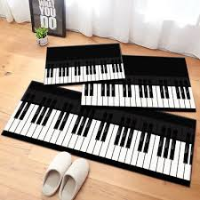 modern piano key area rug floor carpet mat for home living room bedroom kitchen piano