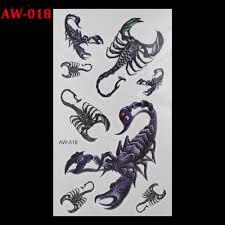 5381 руб в отличие от других не скорпион 3d тату флэш тату для женщин рука временные