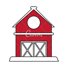 red barn clip art transparent. Red Barn Icon Clip Art Transparent