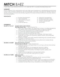 Sample Resume Of Medical Assistant Resumes For Office Assistants
