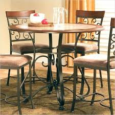 bar height table set counter height round dining table sets silver company inside tall design 7