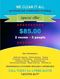 House Cleaning Flyer Template Impressive Examples Of Cleaning Business Flyers Special Offer Flyer Template
