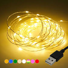 USB Connector <b>LED String</b> Fairy Lights 1/5/<b>10M</b> 100 <b>LED</b> Copper ...