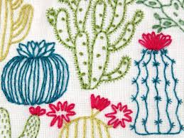 Cactus Embroidery Pattern Amazing Design
