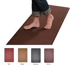 Padded Kitchen Floor Mats Contemporary Indoor Cushion Kitchen Rug Anti Fatigue Floor Mat