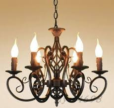 vintage ceiling lamp 6 candle lights lighting fixtures black chandelier pendant