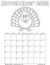 printable november calendars holiday favorites Home Planner Calendar 2015 november 2016 turkey coloring calendar page 2015 organised mum home planner calendar