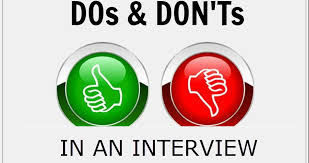 The Do S And Don Ts Of An Interview Top 20 Dos And Donts Of Interviewing In The Bio Pharma