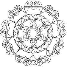 Easy Mandala Coloring Pages Free Coloring Sheets