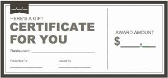 Microsoft Word Templates Gift Certificates Gift Certificate Template Word 2013