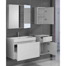 Badezimmer Set In Hochglanz Weiß Mit Waschtisch 4 Teilig Pharao24