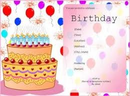 Birthday Cards Templates Word Birthday Invitation Template A To Z Templates Pinterest