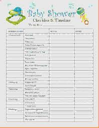 Baby Shower Checklist Template Beautiful Baby Shower