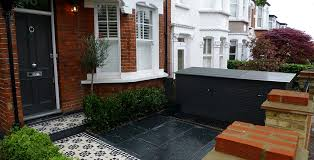 Small Picture brick wall with slate paving Front Garden Pinterest Slate