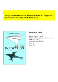 Roberto Verganti Design Driven Innovation Pdf Pdf Design Driven Innovation Changing The Rules Of