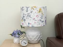 lampshade home decor table lamp floor lamp drum lamp shade lighting fl shabby chic laura ashley pendant wild meadow meadow flowers