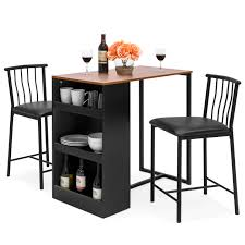 Best Choice Products Kitchen Counter Height Dining Table Set W 2