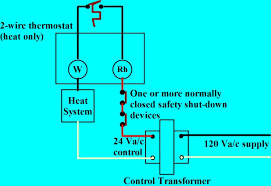 thermostat wiring explained 240 to 24 volt transformer wiring diagram at 24 Volt Control Wiring