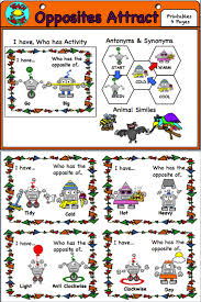 Synonyms Of Table Chart Freebie A Fun Set Of Activities For Learning About Antonyms