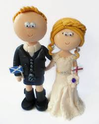 a cheeky view of a scottish kilt wedding cake topper kilts Wedding Cake Toppers Ginger Groom scottish groom & english bride wedding cake topper all figurines are handmade from scratch & Funny Wedding Cake Toppers