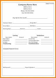 Format Salary Slip Awesome 44 Salary Slip Format Doc Soulhour Online