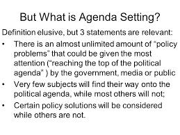Political Agenda Template Stunning Agenda Setting Definition Kubreeuforicco