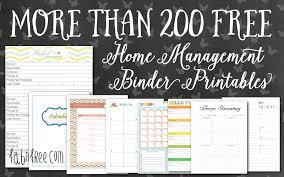 Free Printable Binder Templates More Than 200 Free Home Management Binder Printables Fab N