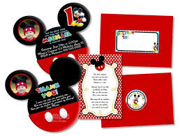 Make Your Own Mickey Mouse Invitations Diy Mickey Mouse Birthday Party Invitations Mouse Invitation