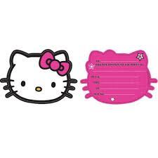Hello Kitty Birthday Card Printable Free New Hello Kitty Invitation