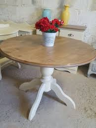 strawbridge solid pine round pod dining table
