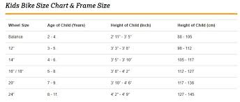 Bmx Size Chart Kids Bike Size Guide Kids Bike Size Charts Halfords