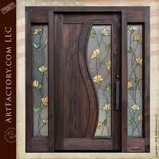 tulip stained glass door craftsman entry with sidelights throughout doors remodel