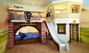 cool kids bedrooms. Beautiful Kids Luxury Handmade Bunk Bed With Slide For Cool Kids Bedrooms Interior Design  Idea In B