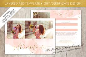 Photography Gift Certificate Template Photo Gift Card Template For Adobe Phot Design Bundles