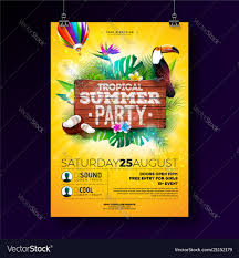 Beach Flyer Summer Beach Party Flyer Design With Royalty Free Vector