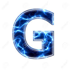 G Electric Electric 3d Letter On White Background G Stock Photo Picture