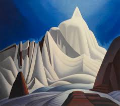 lawren harris mountains in snow rocky mountain paintings vii ca 1929