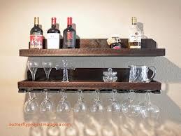 32 wall winerack and glass holder with shelf wood homececor wallshelf shelf