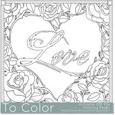 Small Picture Items similar to Printable Rose Frame Love Coloring Page for