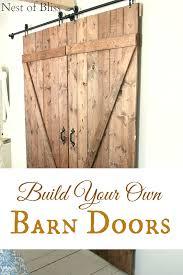 diy barn doors nest of bliss