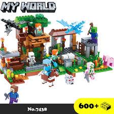 Đồ chơi lắp ráp My World [Lego Minecraft] - Xếp hình thế giới đồ chơi xây  dựng Ngôi nhà trên cây và chuống nuôi ngựa tốt giá rẻ