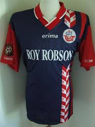 Ultras, pyros, stadionsicherheit, hansa rostock: Hansa Rostock Away Football Shirt 1997 1998