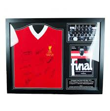 liverpool f c 1977 european cup winners signed shirt framed