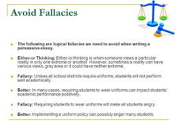 persuasion essay to dream is heaven like but to act is heaven  avoid fallacies the following are logical fallacies we need to avoid when writing a persuasive essay
