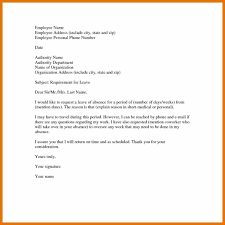 leave of absence mail sample leave of absence letter letter format 1024x1024 1